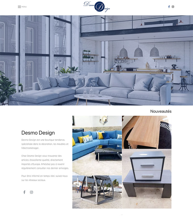 site desmo – Design by Chelty, Agence web à Abidjan