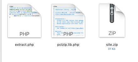 Astuce FTP PCLZIP
