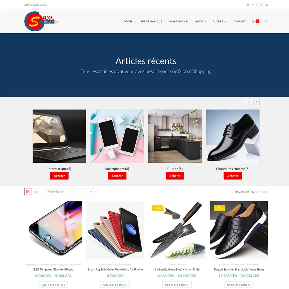 portolio sites web DBC – global shopping