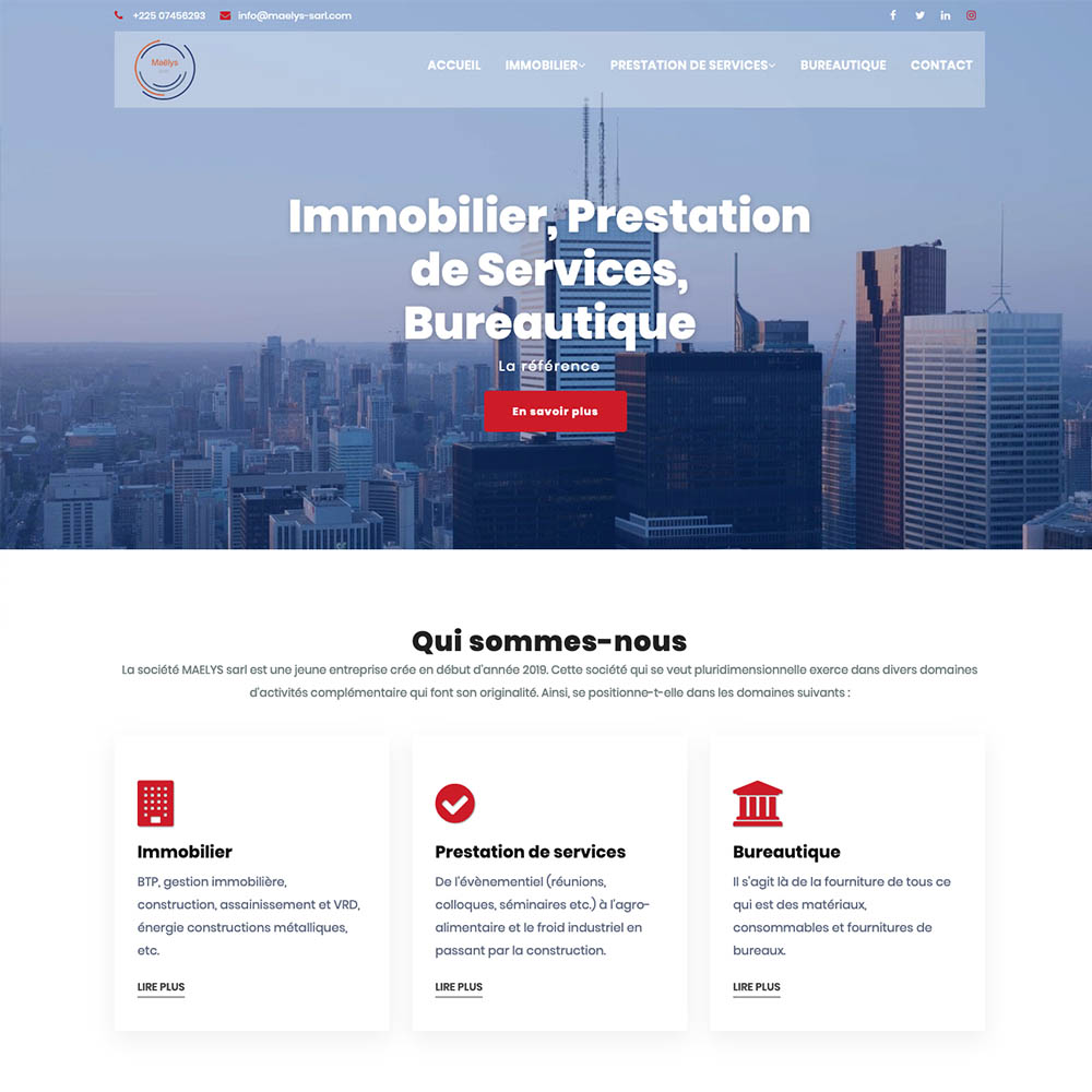 portolio sites web DBC – maelys