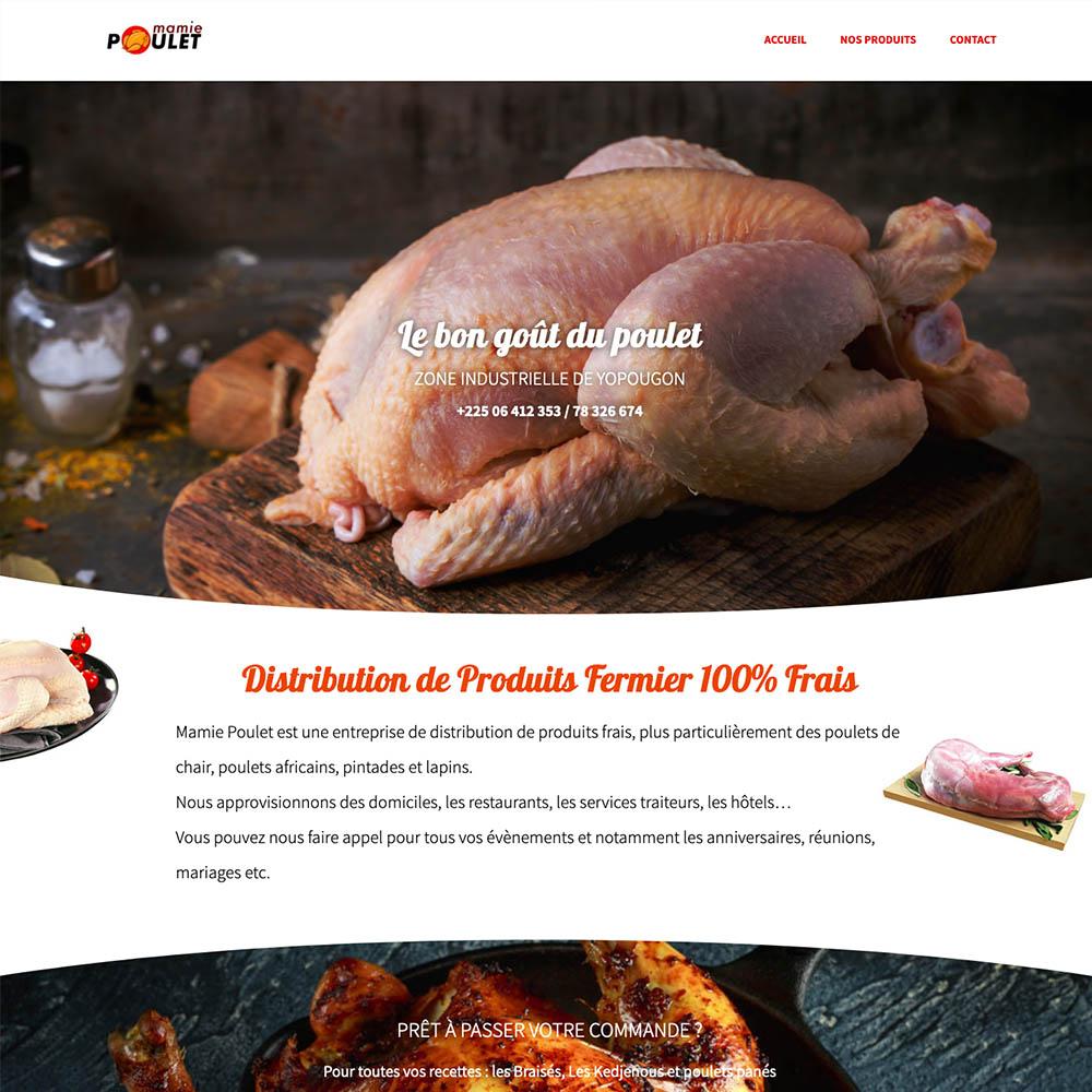 portolio sites web DBC – mamie poulet